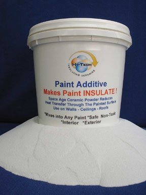 The insulating paint additive can be mixed into store-bought paints