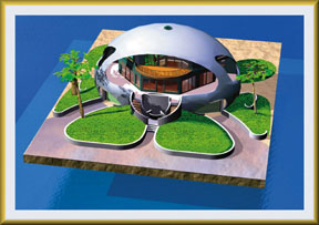 Ceramic coatings maximize the dome home's energy efficiency