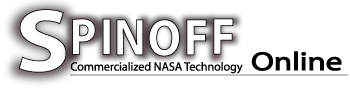 banner with text, Spinoff Commerercailized NASA Technology Online